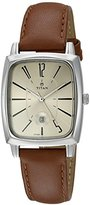 Titan Women's 'Neo' Quartz Metal and Leather Watch, Color:Brown(Model: 2558SL02)