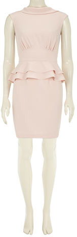 Dorothy Perkins Nude double peplum dress