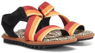 Dries Van Noten Leather-trimmed sandals
