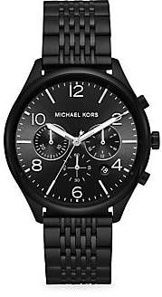 Michael Kors Women's Merrick Chronograph Black IP Stainless Steel Watch