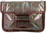 Pierre Hardy Iridescent Leather Clutch