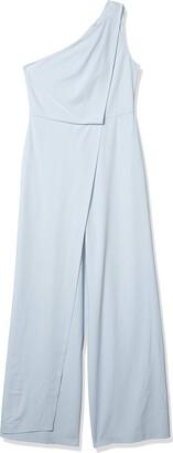 Halston Women's Asymmetric Draped Jumpsuit