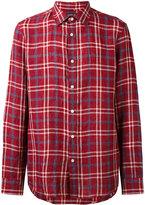 Michael Kors plaid shirt - men - Linen/Flax - S