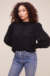 ASTR the Label The Monarch Top In Black - XS