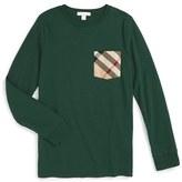 Burberry Boy's Check Pocket T-Shirt