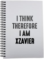 Fotomax Notebook with I think therefore I am XZAVIER