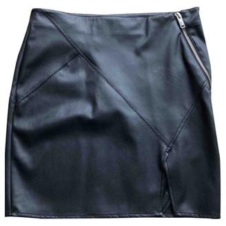 Ikks Black Leather Skirt for Women