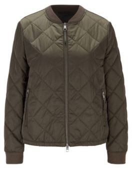 HUGO BOSS Water-repellent blouson-style jacket with diamond-quilted outer