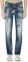 Nudie Jeans Men's Grim Tim Distressed Slim Jeans