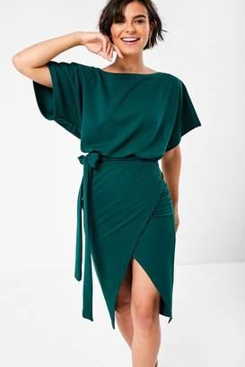 Iclothing iClothing Lainey Kimono Sleeve Dress in Green