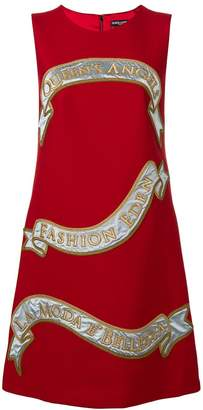 Dolce & Gabbana front print shift dress