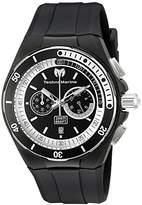 Technomarine Men's Quartz Watch with Black Dial Chronograph Display and Black Silicone Strap TM-115159