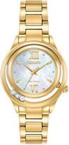 Citizen Eco-Drive Women's L - Sunrise Diamond Accent Gold-Tone Stainless Steel Bracelet Watch 32mm EM0512-58D