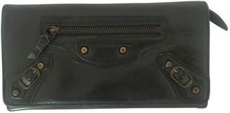 Balenciaga Green Leather Wallets