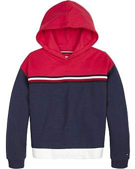 Tommy Hilfiger Color Block Toggle Hoodie (Girls 3-7)