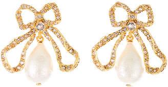 Oscar de la Renta Pearly Bow Drop Earrings