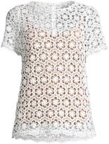 MICHAEL Michael Kors Sequin Floral Lace Top