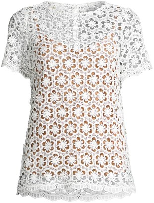 MICHAEL Michael Kors Sequin Floral Lace Top