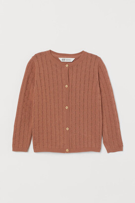 H&M Pattern-knit cotton cardigan