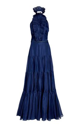 Ralph Lauren Emilia Belted Poplin Gown