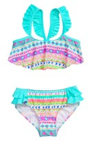 Hula Star Toddler Girl's Hippie Hearts Two-Piece Swimsuit