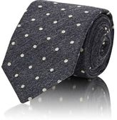 Brunello Cucinelli MEN'S DOTTED JACQUARD NECKTIE-DARK GREY