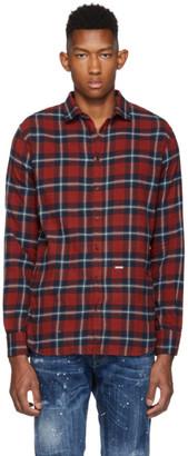 DSQUARED2 Red Plaid M.B. Shirt