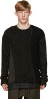 Isabel Benenato Black Patchwork Sweater