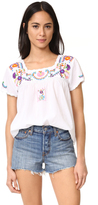Roberta Roller Rabbit Krizia Embroidered Top
