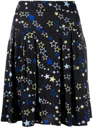Love Moschino Star-Print Pleated Mini Skirt