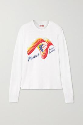 Solid & Striped + Re/done The Montauk Printed Slub Cotton-jersey Top - White