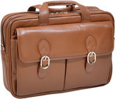 McKlein Kenwood 15.5 Leather Double Compartment Laptop Case