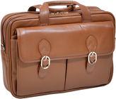 McKlein McKleinUSA Kenwood 15.6 Leather Double Compartment Laptop Briefcase