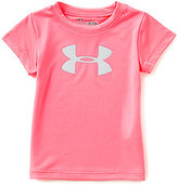 Under Armour Baby Girls 12-24 Months Big Icon Logo Short-Sleeve Tee