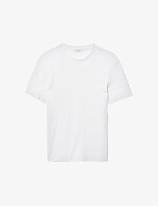 Sandro Crewneck linen-jersey T-shirt