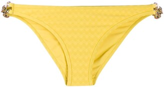 Marlies Dekkers Chain-Embellished Zigzag Bikini Bottoms