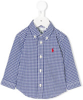 Ralph Lauren gingham button-down shirt - kids - Cotton - 9 mth