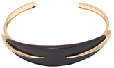 Maiyet 18K Yellow Gold, 0.33 Total Ct. Diamond & Black Horn Dagger Curved Bangle Bracelet