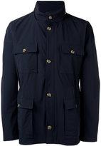 Eleventy classic field jacket - men - Polyamide/Spandex/Elastane/Cupro - L