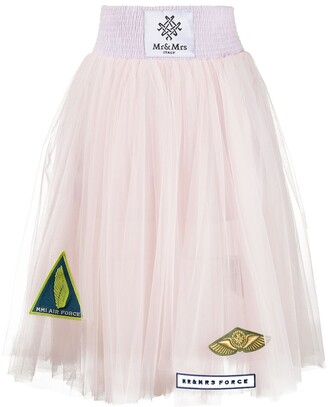 Mr & Mrs Italy Sheer Pleated Skirt