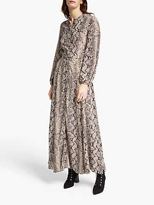 Somerset by Alice Temperley Python Long Sleeve Maxi Dress, Neutral