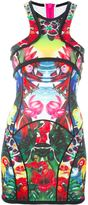DSQUARED2 mini 'Tropical Birds' dress - women - Polyester/Polyurethane/Spandex/Elastane - S