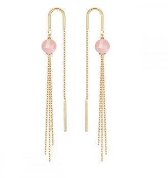 Perle de Lune Medusa Earrings - Guava Quartz & 18K Gold