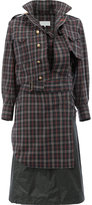 Maison Margiela deconstructed plaid dress - women - Cotton/Polyurethane - 40