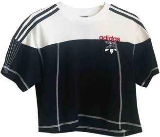 Adidas Originals By Alexander Wang Black Cotton Top for Women
