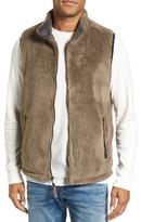 True Grit Men's Double Up Pebble Pile Faux Fur Vest