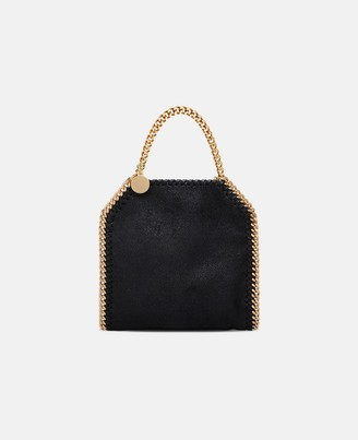 Stella McCartney Black Falabella Shaggy Deer Tiny Tote, Women's