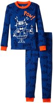 Petit Lem Robot Lab 2 Piece PJ Set (Toddler/Kid) - Blue - 2
