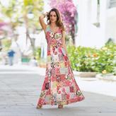 Togther Women's Patchwork Print Maxi Dress