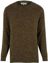 River Island MensKhaki green melange sweater